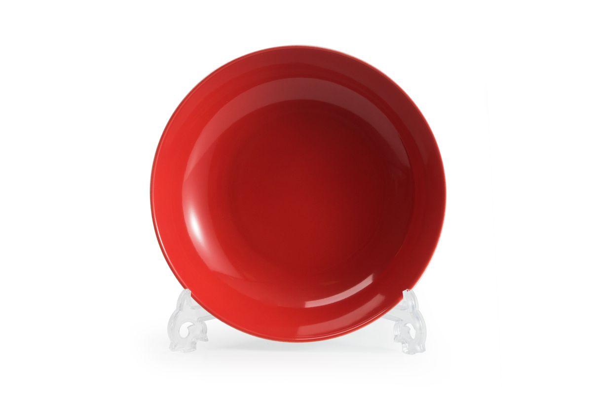 """Тарелка La Rose des Sables """"Putoisage Rouge"""", изготовленная из  высококачественного фарфора, имеет классическую круглую  форму. Она прекрасно впишется в интерьер вашей кухни и  станет достойным дополнением к кухонному инвентарю.  Тарелка La Rose des Sables """"Putoisage Rouge"""" подчеркнет  прекрасный вкус хозяйки и станет отличным подарком. Диаметр тарелки (по верхнему краю): 23 см."""