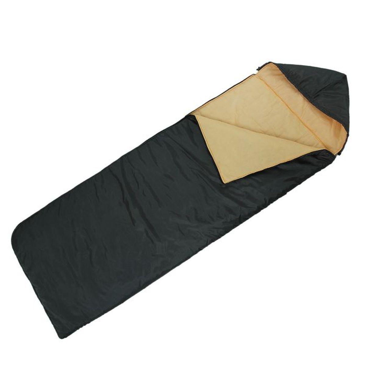 Мешок спальный Onlitop Престиж, цвет: черный, бежевый, правосторонняя молния1344025Комфортный, просторный и очень теплый 3-х сезонный спальник Onlitop Престиж предназначен для походов и для отдыха на природе не только в летнее время, но и в прохладные дни весенне-осеннего периода. В теплое время спальный мешок можно использовать как одеяло (в том числе и дома).Он изготовлен из качественных материалов - синтепона, хлопка, ситца и полиэстера, которые не только обладают теплоизоляционными характеристиками, но и достаточно прочны, что сделало спальный мешок очень долговечным. Длина мешка - 2,25 м, ширина - 70 см, это позволит разместиться в нём человеку практически любой комплекции.Материал наружного слоя: Полиэстер.Материал подкладки: Ситец.Нижняя температура комфорта: +5°C.Размеры: 225 х 70 см.Вес: 1100 г.Что взять с собой в поход?. Статья OZON Гид