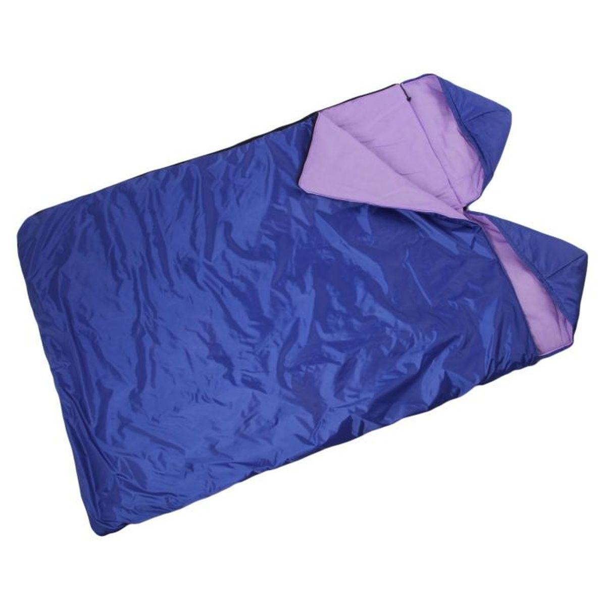 Мешок спальный Onlitop Престиж, 2-местный, цвет: фиолетовый, правосторонняя молния