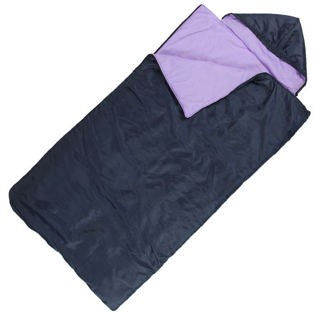 Спальный мешок Onlitop Престиж, увеличенный, цвет: черный, фиолетовый, правосторонняя молния спальный мешок onlitop престиж цвет черный бежевый правосторонняя молния 1344029