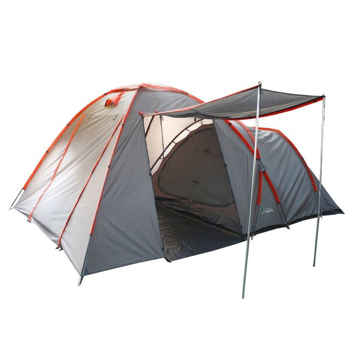 Палатка туристическая Onlitop Santana, 4-местная, цвет: серый палатки greenwood палатка 2 х местная самораскладывающаяся