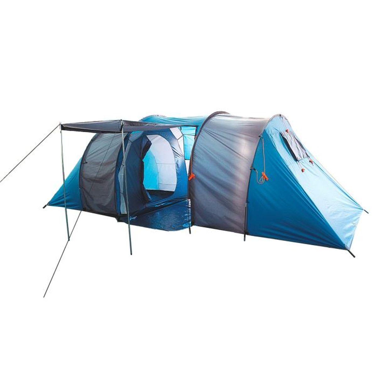 Палатка туристическая Onlitop Canyon 6-местная, цвет: голубой867026Туристическая палатка Onlitop Canyon - это конструкция, которая станет вашим вторым домом в природных условиях. Увеличенное пространство позволяет разместиться сразу всей семье. Она укроет от летнего зноя, непогоды, защитит от насекомых и мелких грызунов. Палатка проста в установке, а сэкономленное на сборке время вы сможете потратить на более приятные развлечения. Большой тамбур вместит все вещи. Шесть вентиляционных окон помогут проветрить палатку, что особенно актуально при такой вместимости. Положите палатку в багажник машины, рюкзак или несите ее за удобные ручки и наслаждайтесь досугом.Конструкция палатки:- 2 палатки объединены общим тамбуром;- 2 входа в тамбур;- отдельный вход в каждую палатку;- перед тамбуром можно установить навес.Внутреннее оснащение:- москитная сетка на входе;- 1 большое окно в тамбуре;- 2 вентиляционных окна в каждой палатке;6 карманов для хранения вещей.Размер палатки: 570 х 240 х 185 см.