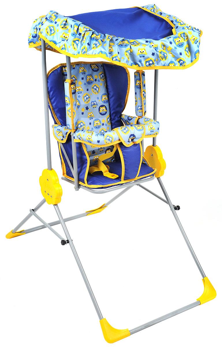 Фея Качели детские Малыш с тентом цвет синий голубой детские качели в квартиру