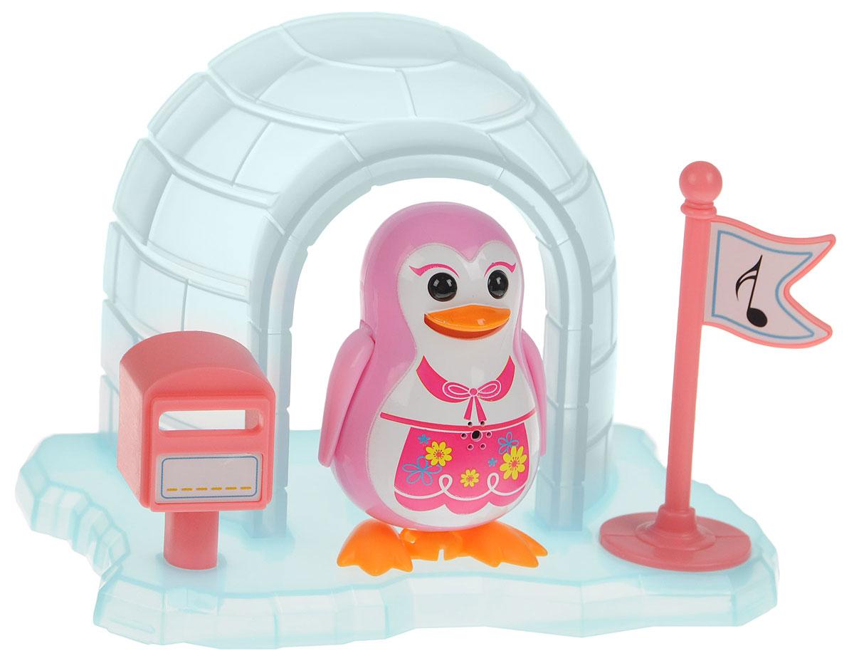DigiFriends Интерактивная игрушка Пингвин с домиком цвет розовый - Интерактивные игрушки
