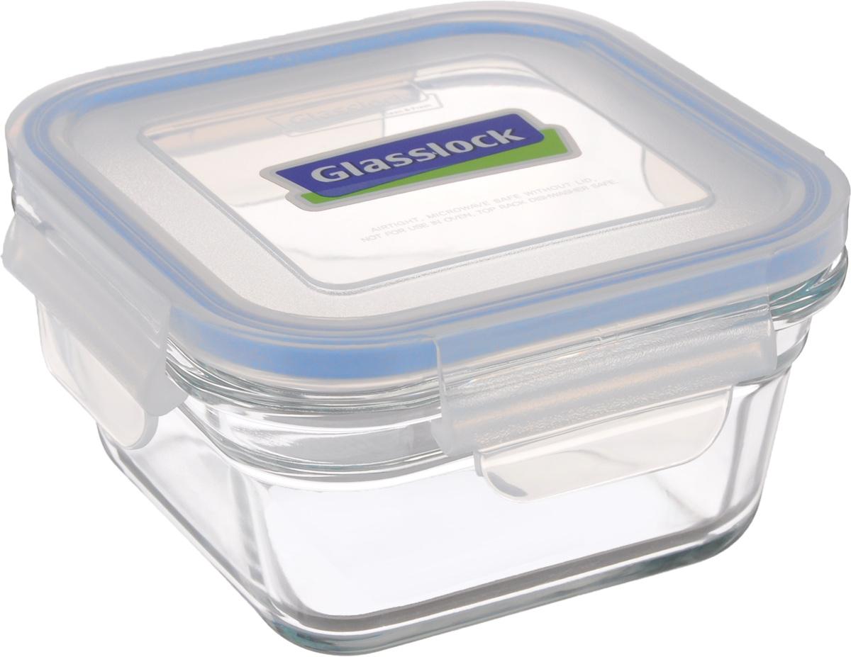 Контейнер пищевой Glasslock, квадратный, цвет: прозрачный, синий, 405 млOCST-040_прозрачный, синийКонтейнер пищевой Glasslock изготовлен из высококачественного закаленного ударопрочного стекла. Герметичная крышка, выполненная из пластика и снабженная уплотнительной силиконовой вставкой, надежно закрывается с помощью четырех защелок. Подходит для мытья в посудомоечной машине, хранения в холодильных и морозильных камерах, использования в микроволновых печах. Выдерживает резкий перепад температур.Стеклянная посуда нового поколения от Glasslock экологична, не содержит токсичных и ядовитых материалов; превосходная герметичность позволяет сохранять свежесть продуктов; покрытие не впитывает запах продуктов; имеет утонченный европейский дизайн - прекрасное украшение стола.Размер контейнера по верхнему краю: 11 х 11 см.Высота контейнера (с учетом крышки): 7,5 см.