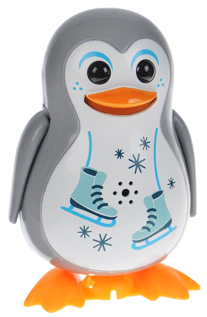 DigiFriends Интерактивная игрушка Пингвин с кольцом цвет серый silverlit digibirds пингвин фигурист с кольцом серый