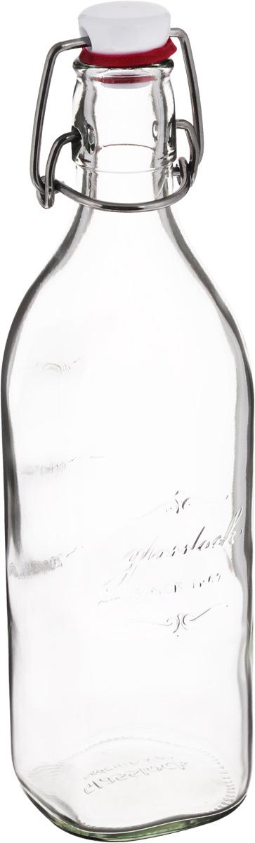 """Бутылка """"Glasslock"""", выполненная из прочного  стекла, предназначена для масла и соусов. Изделие оснащено плотно закрывающейся  пластиковой крышкой с силиконовой накладкой. Благодаря крышке внутри  сохраняется герметичность, и продукты дольше остаются свежими. На стенке  имеется мерная шкала. Оригинальная бутылка для масла и уксуса будет отлично смотреться на вашей  кухне. Можно мыть в посудомоечной машине, хранить в холодильнике и морозильной  камере.  Диаметр (по верхнему краю): 2,5 см. Размер основания: 6 х 6 см. Высота емкости (без учета крышки): 24 см."""