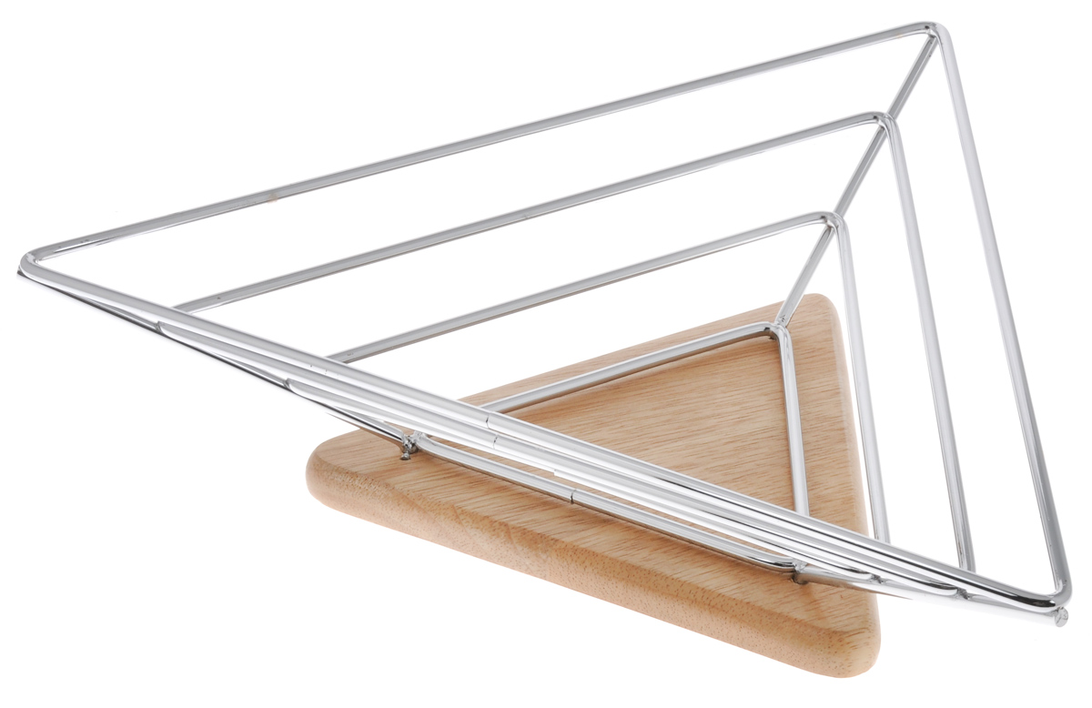Фруктовница Olaff, треугольная, 35 x 31 x 8,5 смYSH-1151Оригинальная фруктовница Olaff, изготовленная из нержавеющей стали с хромированной поверхностью на деревянной подставке, идеально подходит для хранения и красивой сервировки любых фруктов. Современный дизайн фруктовницы идеально впишется в интерьер вашей кухни. Изделие рекомендуется мыть вручную с применением любых неабразивных моющих средств. Не рекомендуется использование металлических щеток для чистки.Размер фруктовницы: 35 х 31 см.Высота: 8,5 см.