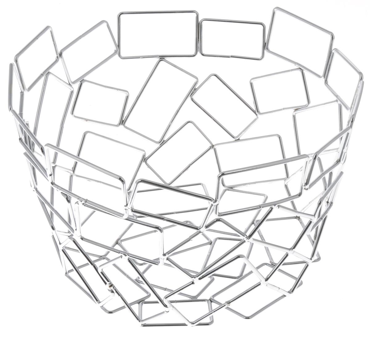 Фруктовница Guterwahl, круглая, диаметр 23 см. YSH-1104YSH-1104Оригинальная фруктовница Guterwahl, изготовленная из нержавеющей стали с хромированной поверхностью, идеально подходит для хранения и красивой сервировки любых фруктов. Современный дизайн фруктовницы идеально впишется в интерьер вашей кухни. Изделие рекомендуется мыть вручную с применением любых неабразивных моющих средств. Не рекомендуется использование металлических щеток для чистки.Диаметр (по верхнему краю): 23 см.Высота: 14 см.