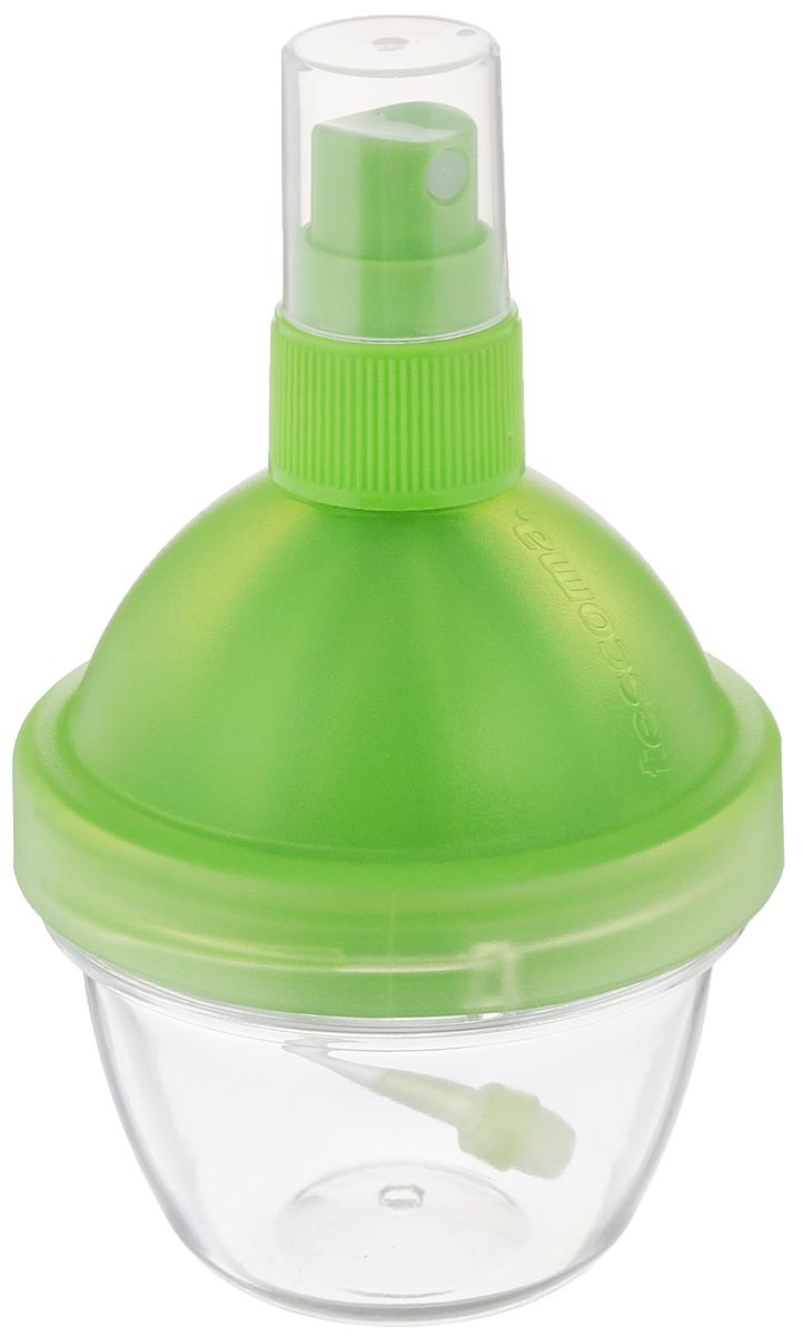 Распылитель лимонного сока Tescoma Vitamino, с соковыжималкой, цвет зеленый642770Распылитель Tescoma Vitamino отлично подходит для добавки свежего лимонного сока в салаты, рыбные блюда, блюда, приготовленные на гриле, жареные блюда.Он оснащен соковыжималкой, предназначенной для удобного выжимания сока из лимонов и лайма. Изделие выполнено из высококачественного прочного пластика Сок в распылителе можно хранить в холодильнике. Высота: 11,5 см. Объем: 90 мл.