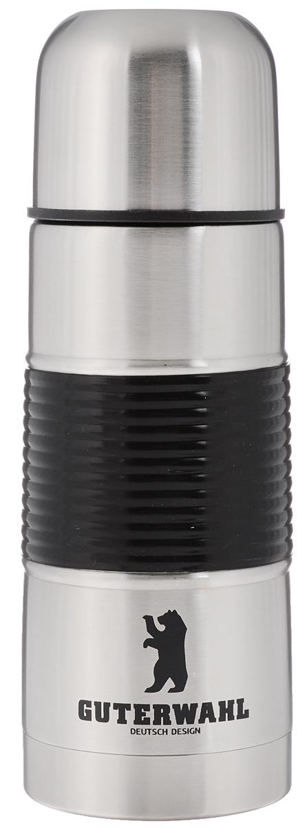 Термос Guterwahl, 350 мл. ZC-502Z-350ZC-502Z-350Термос Guterwahl изготовлен из высококачественной нержавеющей стали с матовой полировкой. Двойные стенки обеспечивают долгое сохранение температуры напитка. Подходит для горячих и холодных напитков. Благодаря вакуумной кнопке внутри создается абсолютная герметичность, что предотвращает проливание напитков. Верхнюю крышку можно использовать в качестве чаши для напитка. На корпусе имеется прорезиненная вставка для более удобного использования термоса.Стильный функциональный термос будет незаменим в дороге, на пикнике. Его можно взять с собой куда угодно, и вы всегда сможете наслаждаться горячим домашним напитком. Не рекомендуется мыть в посудомоечной машине.Высота термоса (с учетом крышки): 20 см. Диаметр основания: 6,5 см. Диаметр горлышка: 4,5 см.