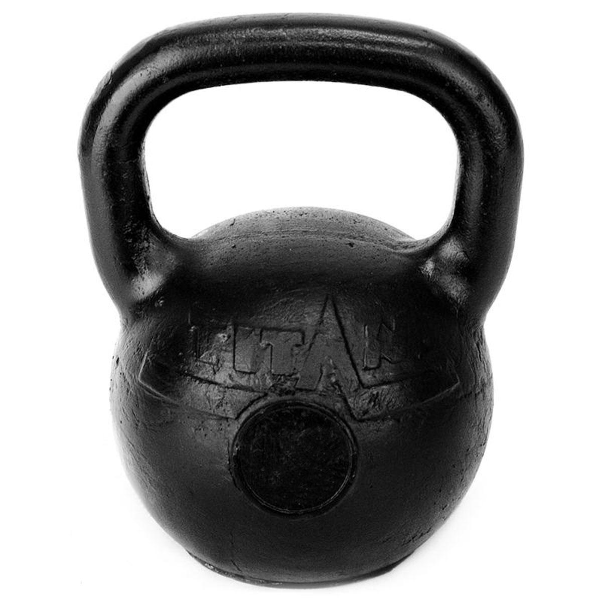 Гиря чугунная Titan, 16 кг гиря titan 12 кг