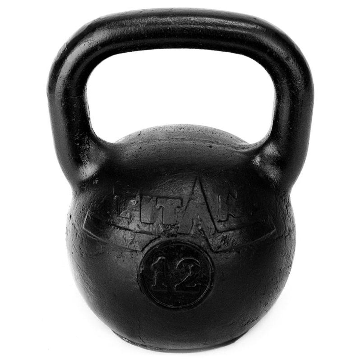 Гиря чугунная Titan, 12 кгTITAN-12Гиря Titan выполнена из высококачественного прочного чугуна. Эргономичная рукоятка не скользит в руке, обеспечивая надежный хват. Чугунная гиря прочна, долговечна, устойчива к коррозии и температурам, поэтому является одними из самых популярных спортивных снарядов. Гири - это самое простое и самое гениальное спортивное оборудование для развития мышечной массы. Правильно поставленные тренировки с ними позволяют не только нарастить мышечную массу, но и развить повышенную выносливость, укрепляют сердечнососудистую систему и костно-мышечный аппарат.Вес гири: 12 кг.
