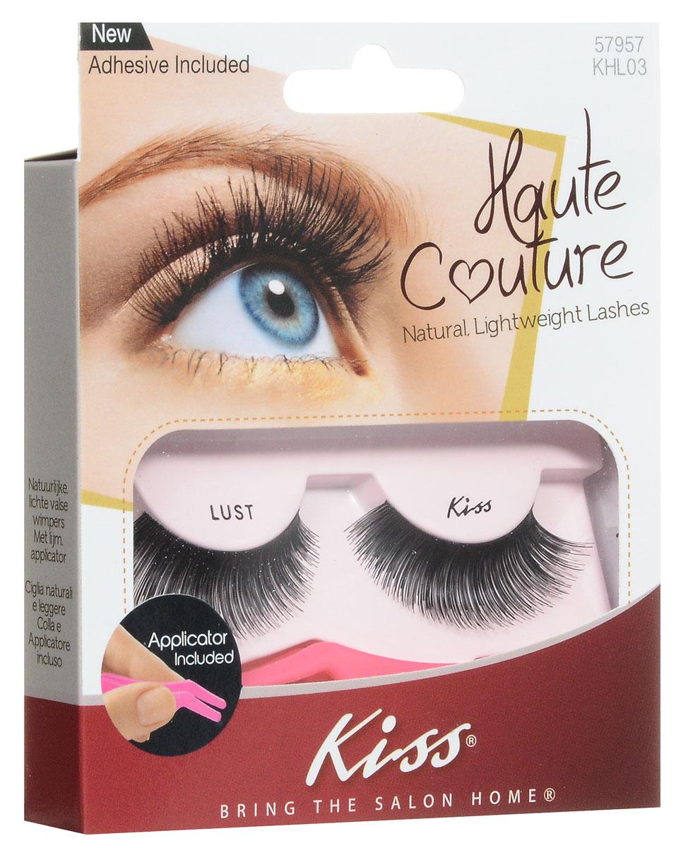 Kiss Haute Couture Накладные ресницы Single Lashes Lust KHL03GT12-014Накладные ресницы Kiss Haute Couture Lust (KHL03) подходят для вечернего яркого макияжа, создают эффект выразительных больших глаз. Изготовлены вручную из натурального волоса, отличаются великолепным качеством и мягкостью, комфортны для глаз. Изогнутая форма пинцета удобна для крепления ресниц. Клей с содержанием алоэ обеспечивает гипоаллергенность. Протестировано и одобрено дерматологами. Можно использовать несколько раз. Снятие ресниц не требует дополнительных средств: просто приложите ватный диск с теплой водой и снимите ресницы.Состав набора: пара накладных ресниц, пинцет, клей.
