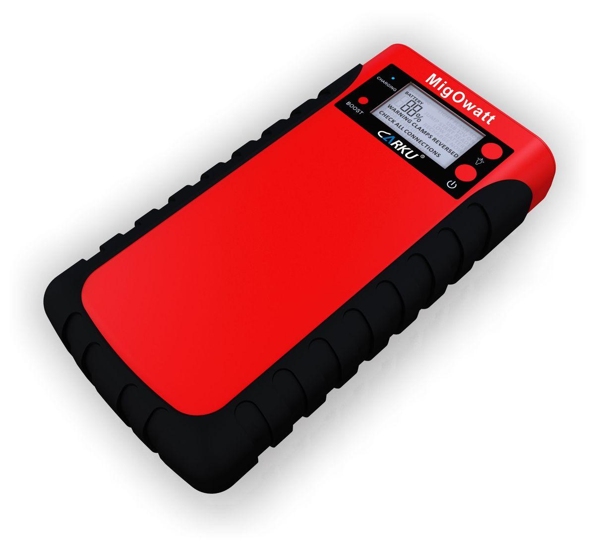 Пуско-зарядное устройство Carku E-Power-43 15000 мАч (55,5 Вт/ч)6956229900369Carku E-Power-43 - это многофункциональное портативное пуско-зарядное устройство с корпусом, защищенным от воздействия пыли и влаги. Модель можно использовать для самых различных целей, начиная запуском авто или мотоцикла с разряженной штатной АКБ и заканчивая зарядкой мобильных гаджетов. В комплекте с E-Power-43 имеется специальный переходник и восемь штекеров, позволяющие питать батареи телефонов разных производителей. Также в наборе имеется адаптер для прикуривателя, задачей которого является питание некоторых автоприборов. Поскольку корпус устройства не подвержен воздействию влажной среды и не забивается пылью, с ним можно отправляться в длительные путешествия, на рыбалку или охоту. Модель позволит зарядить севший смартфон, планшет и другие небольшие девайсы, чтобы даже вдали от цивилизации они оставались в рабочем состоянии.Емкость батареи E-Power-43 составляет15 000 мАч, пиковый ток гаджета - 500 А, пусковой ток - 250 А.Такое портативное пуско-зарядное устройство может использоваться в нескольких целях:1. Carku E-Power-43 отлично подходит для выполнения функций внешнего аккумулятора для небольшой мобильной техники, плееров, телефонов. А посредством переходника прикуривателя 12В можно подпитывать многочисленные автогаджеты и прочие 12-вольтовые девайсы для путешественников, любителей активного отдыха, рыбалки и охоты. 2. Гаджет используется как универсальное пусковое устройство для автомобиля или мототранспорта. Модель применяется для многоразового использования, позволяя круглогодично запускать двигатели машин или мотоциклов при севшем аккумуляторе 12В. В зимний сезон рекомендуется для использования на бензиновых двигателях объемом до 4 л, а дизельных - до 2,5 л. 3. При необходимости выступает в роли обычного светодиодного фонарика, может работать в непрерывном режиме, мигать или посылать сигналы о помощи (SOS) с помощью света. Главными отличиями Carku E-Power-43 от аналогичных гаджет