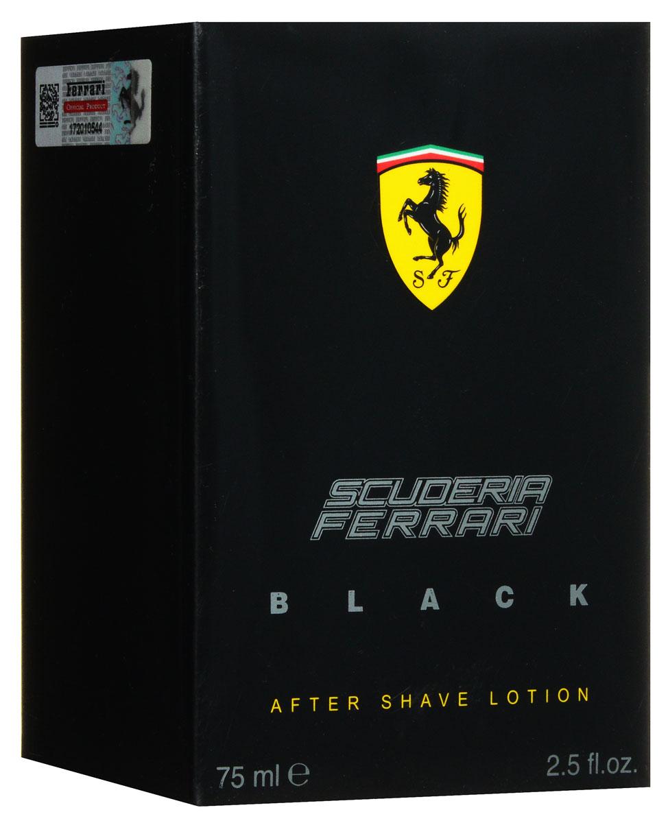 Ferrari Лосьон после бритья  BLACK , 75 мл - Бритье и депиляция