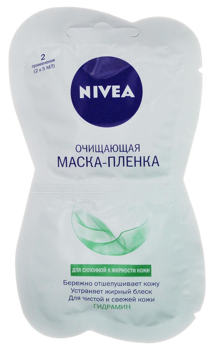 NIVEA Очищающая маска-пленка 10 мл81901NIVEAМаска-пленка очищающая Aqua Effectдля склонной к жирности кожи, 2х5 мл