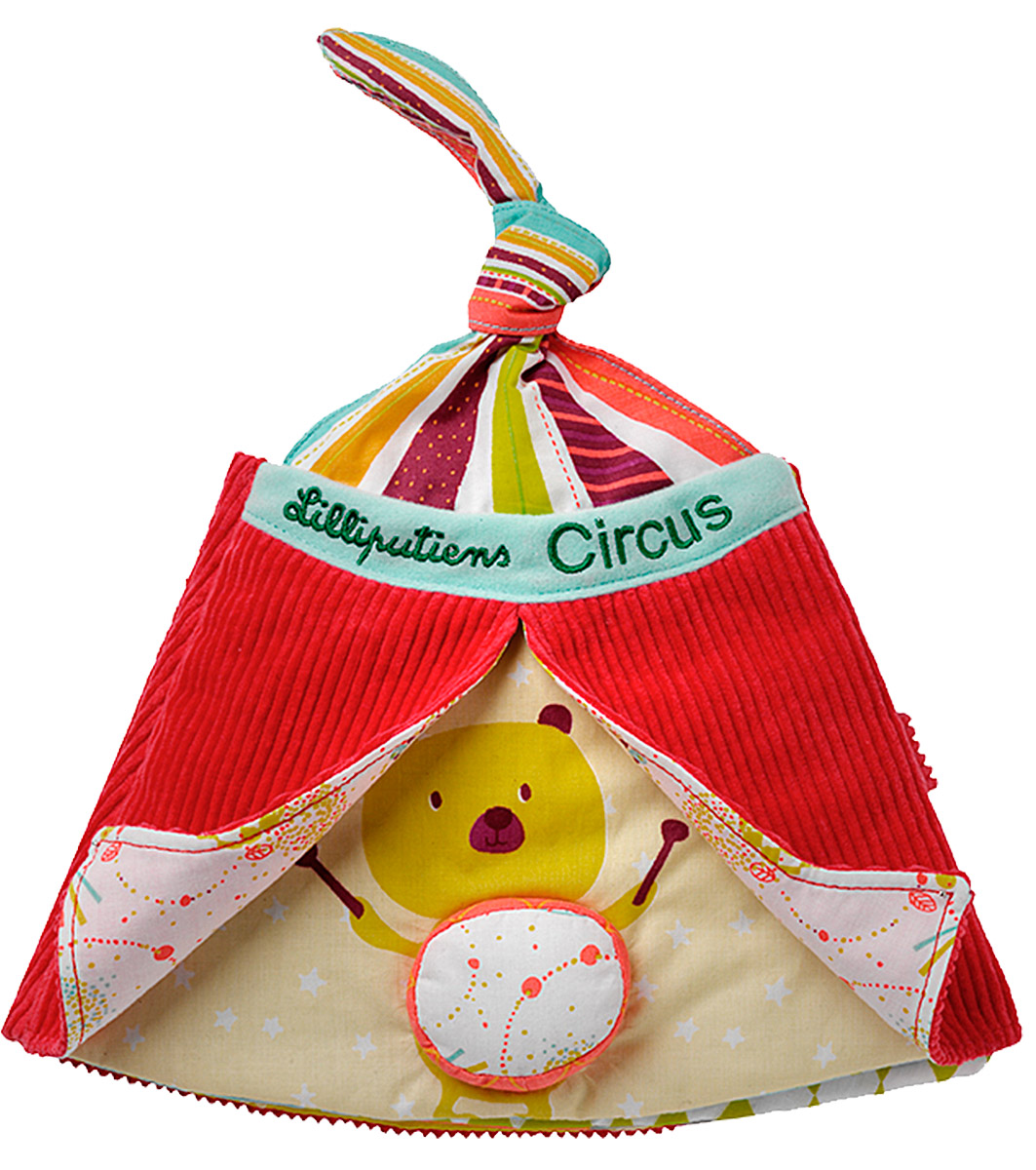 Lilliputiens Мягкая книжка-игрушка Цирк Шапито lilliputiens игрушка собачка джеф