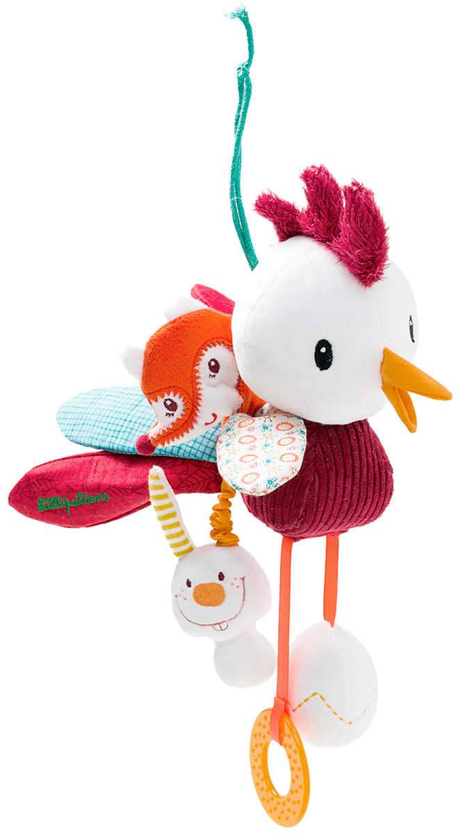 Lilliputiens Развивающая игрушка Петушок Джон lilliputiens мягкая книжка игрушка петушок джон