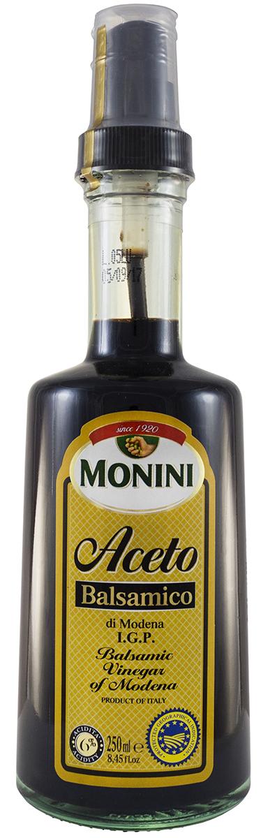 Monini Spray Aceto Balsamico уксус винный бальзамический, 250 мл1612206Винный бальзамический уксус Monini Spray Aceto Balsamico прекрасно подойдет для маринадов, десертов, закусок и других блюд.Кислотность: 6%