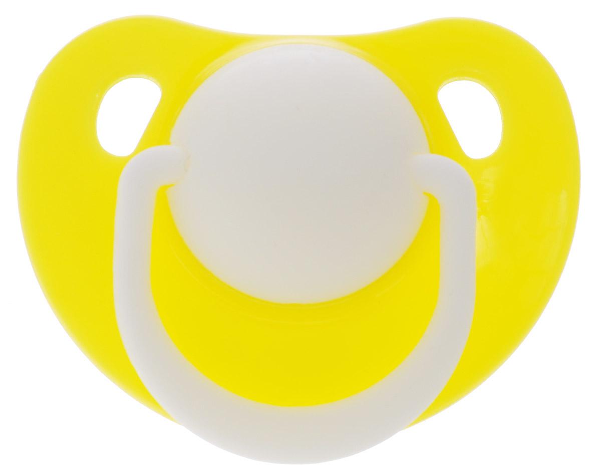 Lubby Пустышка силиконовая Классика от 0 месяцев цвет желтый