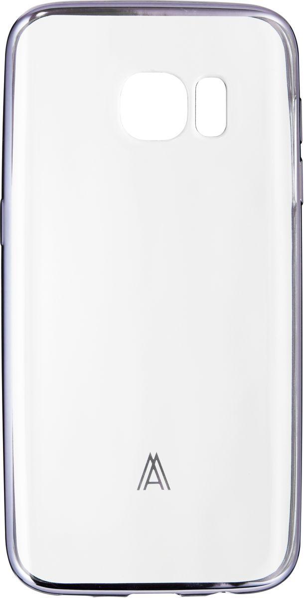 все цены на  Anymode Luxe Soft Skin чехол для Samsung Galaxy S7 Edge, Silver  онлайн