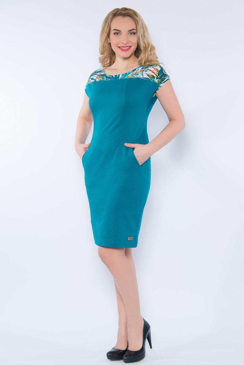 Платье BeGood, цвет: темно-бирюзовый. SS16-BGUZ-503. Размер 58 цена
