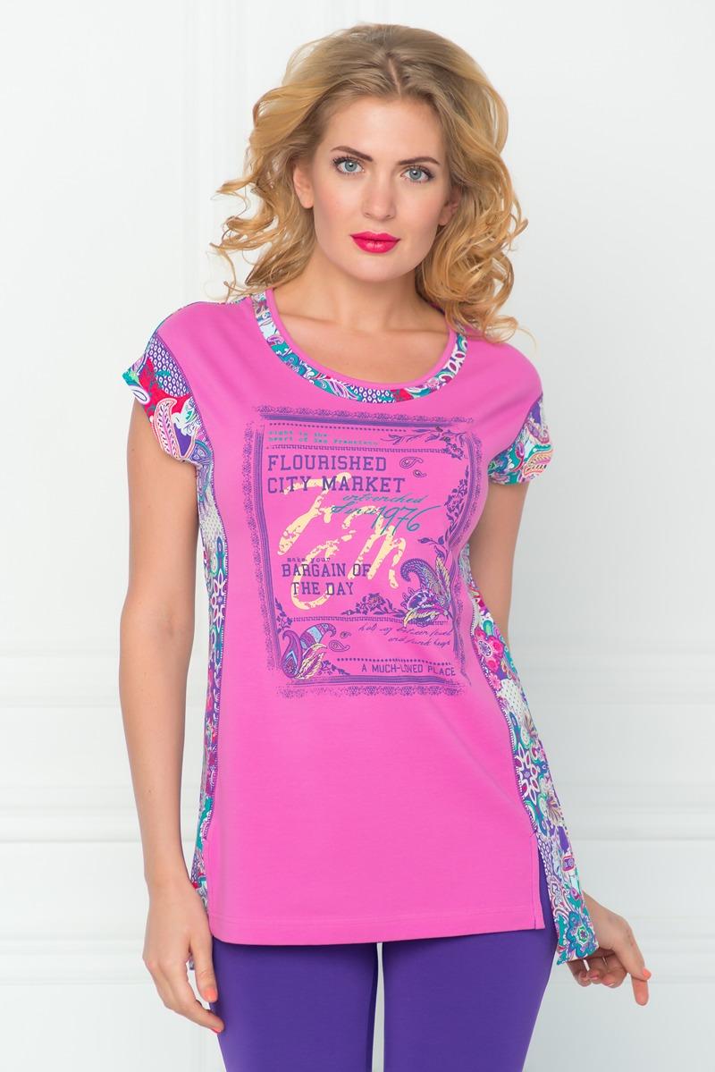 Туника женская BeGood, цвет: фиолетовый, розовый. SS16-BGUZ-493. Размер 58