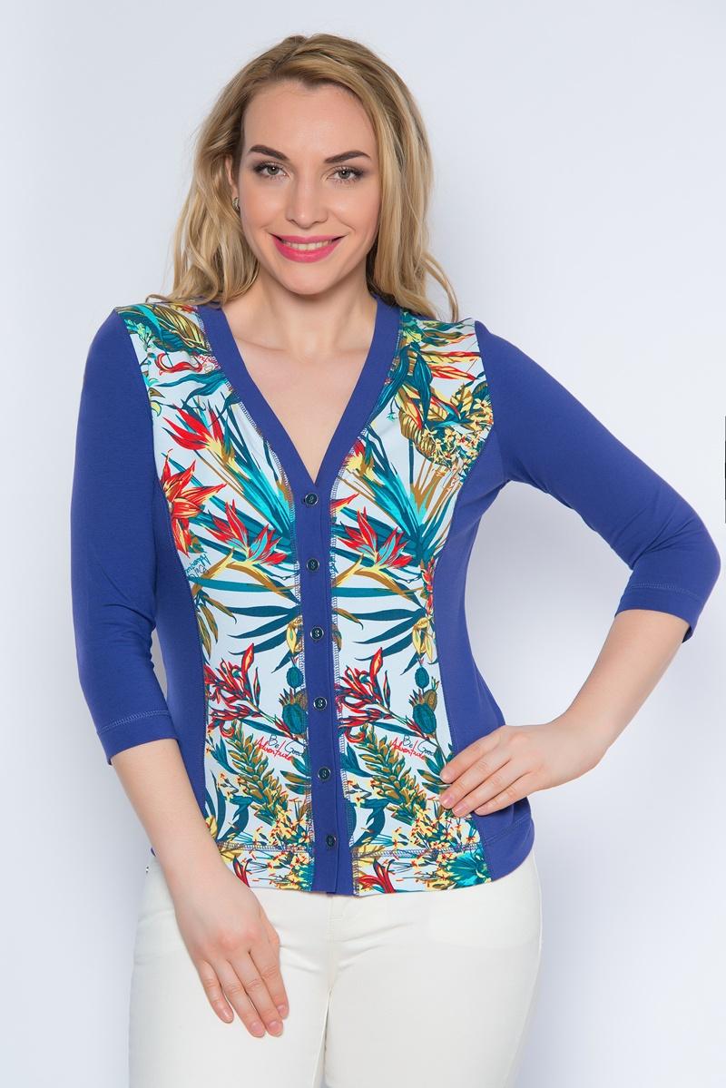 Жакет женский BeGood, цвет: синий. SS16-BGUZ-495. Размер 56 женский гардероб