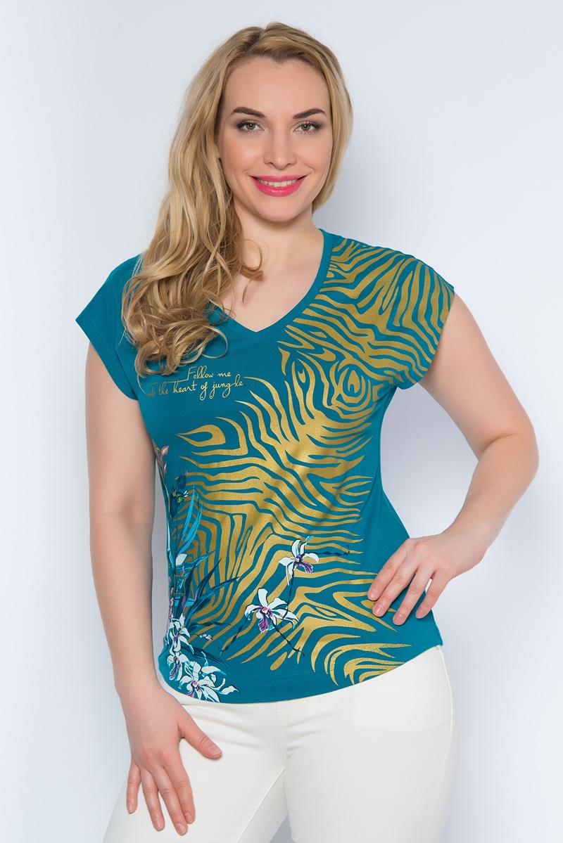 Футболка женская BeGood, цвет: темно-бирюзовый. SS16-BGUZ-504. Размер 58 футболки begood футболка стрекоза цвет молочный m