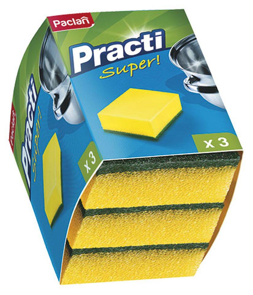 Губка для посуды Paclan, 3 шт320014/320017/135511/320019Губки для посуды Paclan чистят основательно и бережно, хорошо впитывают жидкость, позволяют расходовать минимальное количество чистящих средств.