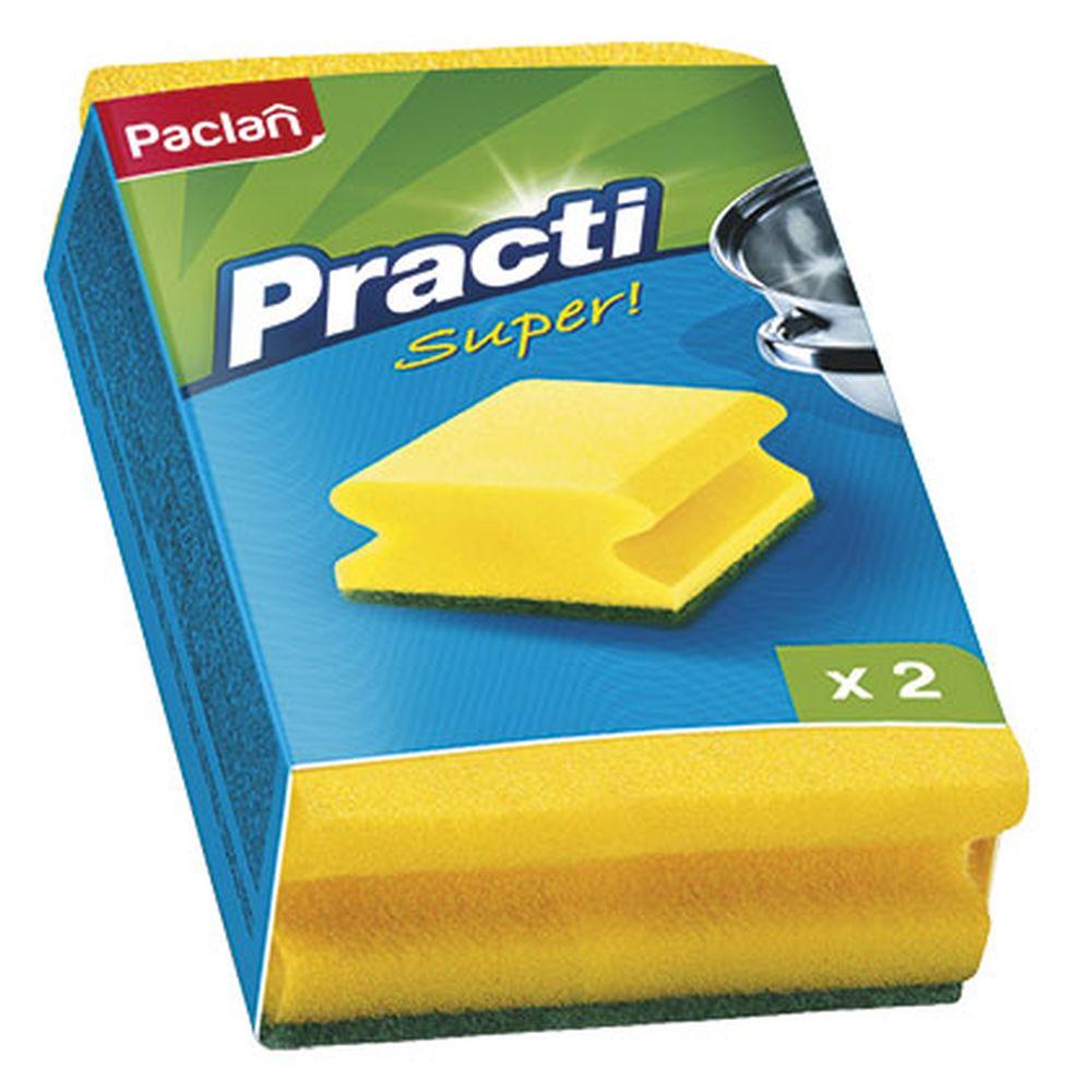 Губка для посуды Paclan, 2 шт320028/135501/320023/320027Губки для посуды Paclan чистят основательно и бережно, хорошо впитывают жидкость, позволяют расходовать минимальное количество чистящих средств.