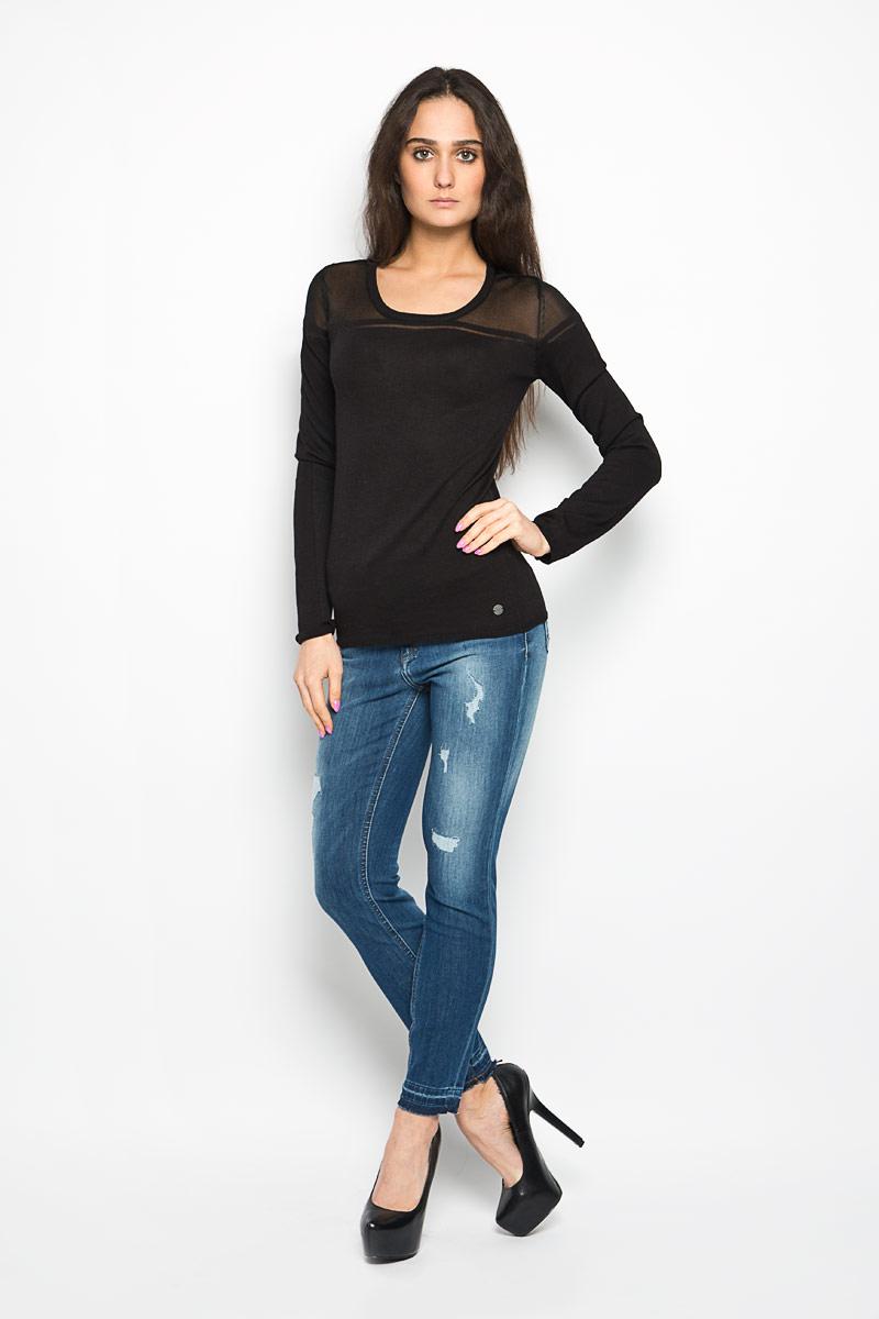 Джемпер женский Lee Cooper, цвет: черный. CHARLI4037. Размер M (44) блузка женская lee cooper цвет розовый синий dova4006 размер xl 52