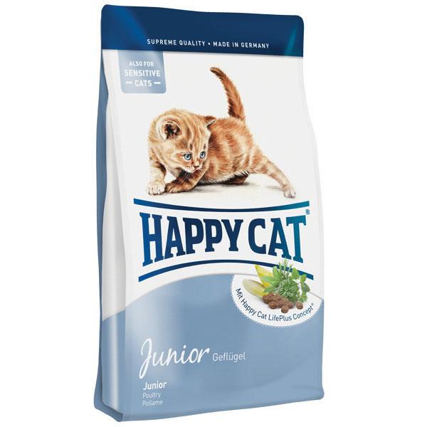 Happy Cat Supreme Junior для котят со вкусом птицы, 10 кг happy cat la cuisine кролик говядина с картофелем и морковью без глютена 4 кг