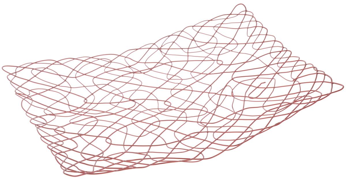 Фруктовница Guterwahl Паутинка, 32 х 25 х 3 смYSH-9-003Оригинальная фруктовница Guterwahl Паутинка, изготовленная из нержавеющей стали, идеально подходит для хранения и красивой сервировки любых фруктов. Современный дизайн фруктовницы идеально впишется в интерьер вашей кухни. Изделие рекомендуется мыть вручную с применением любых неабразивных моющих средств. Не рекомендуется использование металлических щеток для чистки.Размер фруктовницы: 32 х 25 см.Высота: 3 см.