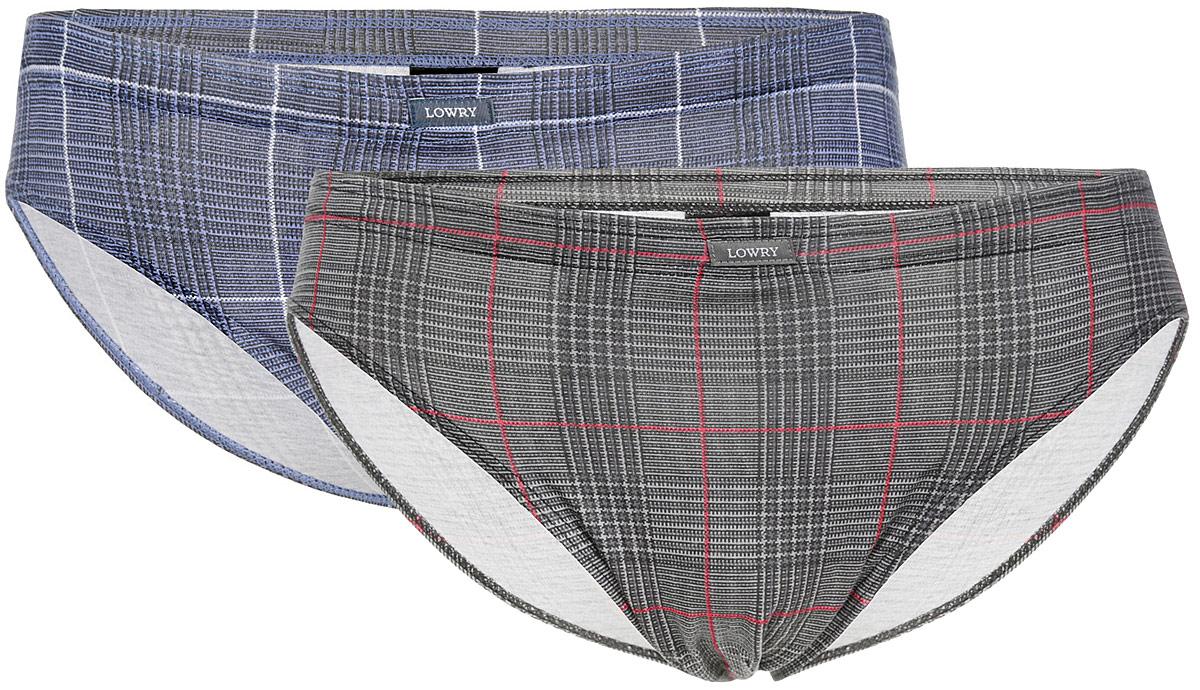 Трусы мужские Lowry, цвет: серый, светло-фиолетовый, 2 шт. MB-379. Размер XXL (52/54) трусы lowry трусы