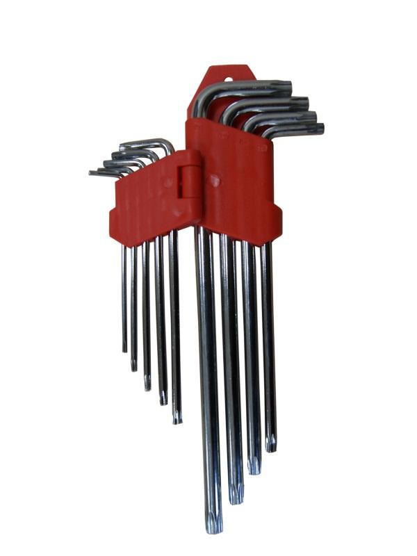 Набор ключей Skybear TORX, 9 шт, Т10-Т50, большие311532Набор ключей TORX, 9шт.T10 - T50, большие