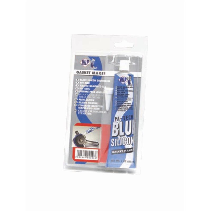 Герметик силиконовый высокотемпературный SuperHelp, цвет: синий, 85 мл403Герметик силиконовый высокотемпературный синий 85мл. Имеет термостойкость от -62 до +315 градусов. Предназначен для востановления и замены большинства автомобильных прокладок, склеивания деталей из металла, резины, бумаги, ткани, асбестовых уплотнителей, войлока, дерева.Образует эластичную, долговечную, стойкую к агрессивной среде прокладку.