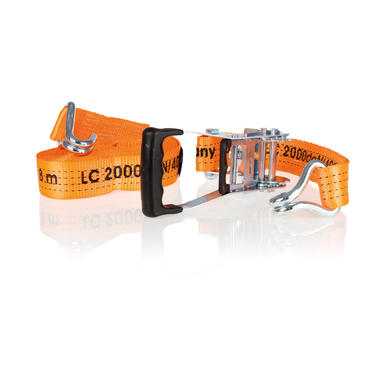 Ремень для крепления грузов Alca, цвет: оранжевый, 50 мм х 8 м крепеж alca 406 500 ремень для крепления багажа