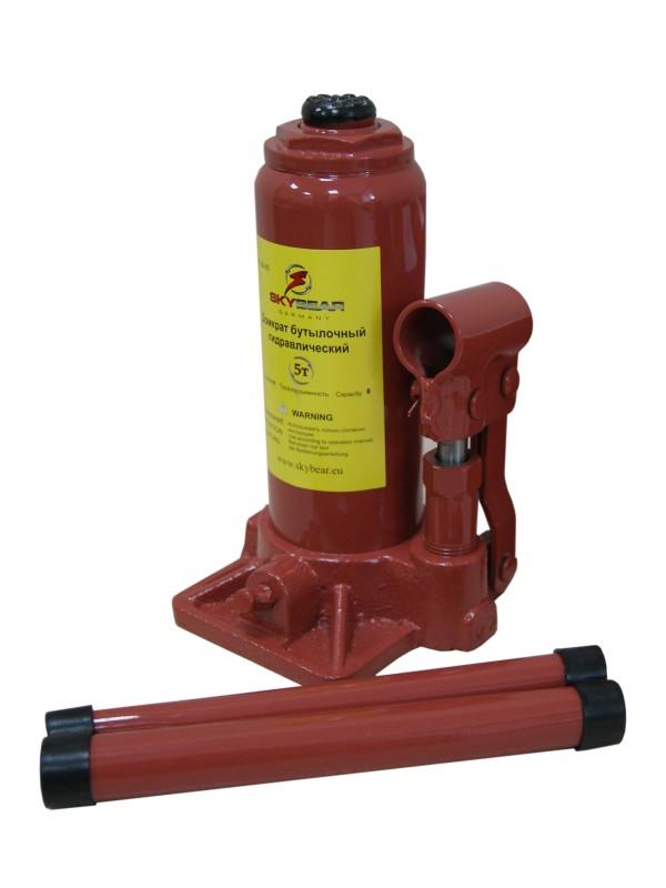 Домкрат бутылочный гидравлический Skybear, 5 т (h195-380)410510Домкрат гидравлический 5 т(h195-380)
