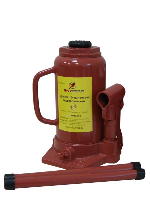 Домкрат бутылочный гидравлический Skybear, 16 т (h220-420)411610Домкрат гидравлический 16 т(h220-420)