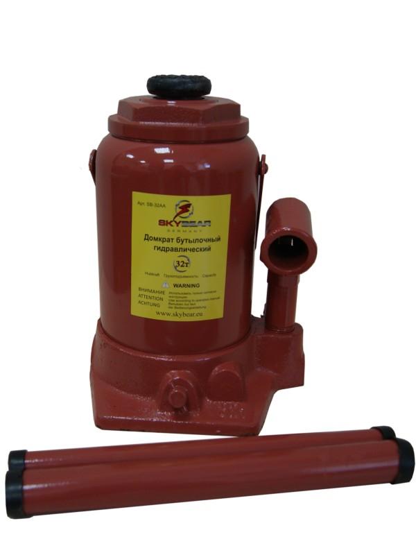 Домкрат бутылочный гидравлический Skybear, 32АА т (h234-424)413220Домкрат гидравлический 32АА т(h234-424)