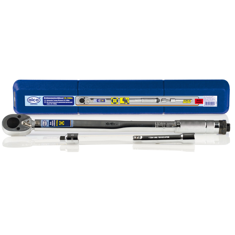 Ключ динамометрический Alca, с трещоткой, 1/2, 28-210 Нм450000Автоматический динамометрический ключ Alca используется для надежного и точного закручивания резьбовых соединений. Оснащен трещоткой. Инструмент изготовлен из прочной хромованадиевой стали, что увеличивает срок его службы. Широкий рабочий диапазон обеспечивает качественную работу.Диапазон: 28-210 Нм.