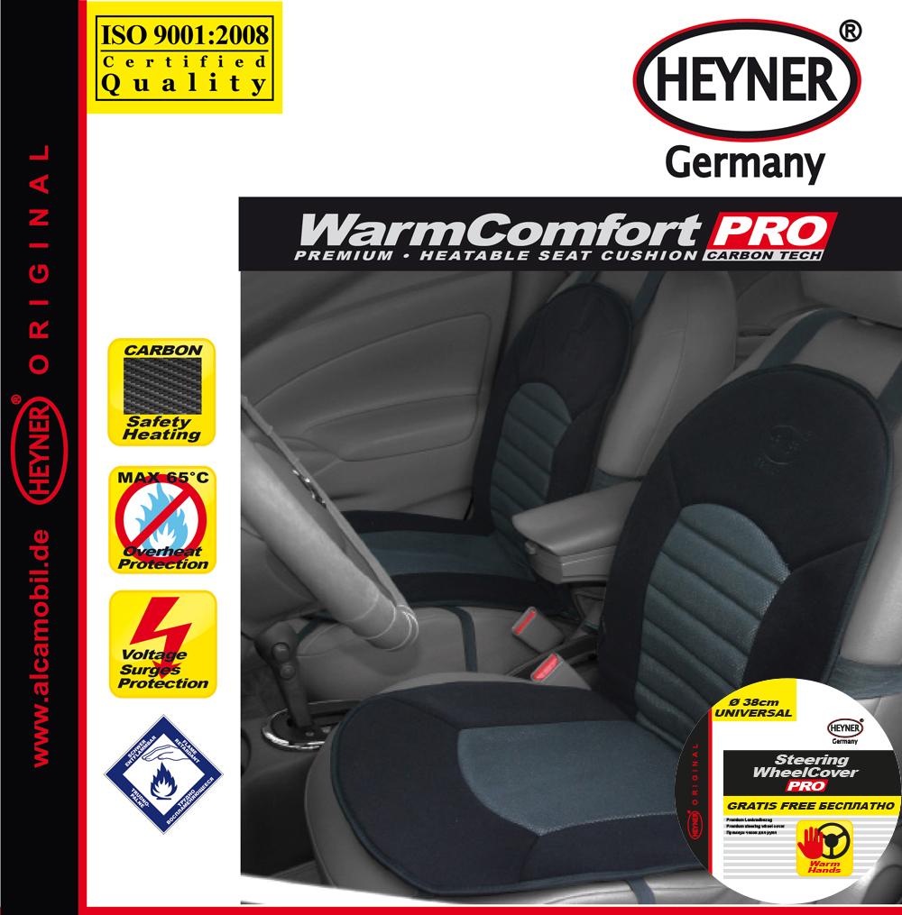 Накидка на сиденье Heyner Карбон, с подогревом, цвет: черный, 12V506600Накидка Heyner Карбон предназначена для сиденья водителя. Изделие выполнено из прочного материала и снабжено большой поверхностью подогрева. Три режима подогрева обеспечивают комфорт во время эксплуатации. Нагревательные элементы устойчивы к поломке. Накидка снабжена кабелем для подключения к прикуривателю. Защита от перегрева гарантирует долгий срок службы. Длина кабеля: 140 см. Напряжение: 12V.