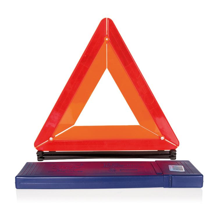 Знак аварийной остановки Alca550200Знак аварийной остановки Alca выполнен из прочного пластика. Гарантированная безопасность обеспечивается качественным отражением даже ночью. Основание повышает устойчивость знака на дорожном покрытии. Компактно складывается. Для хранения предусмотрен специальный футляр.