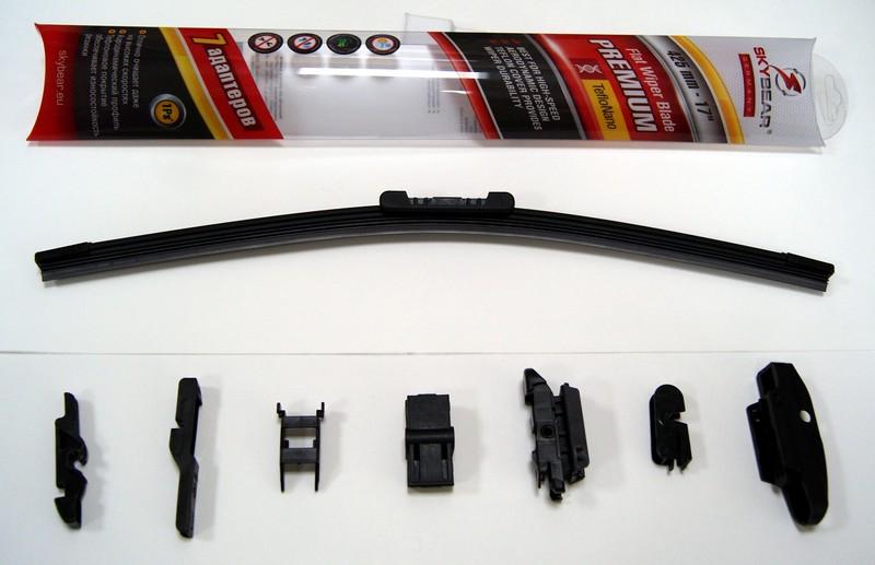 Щетка стеклоочистителя Skybear Premium, бескаркасная, 43 см, 1 шт аксессуар skybear 251000