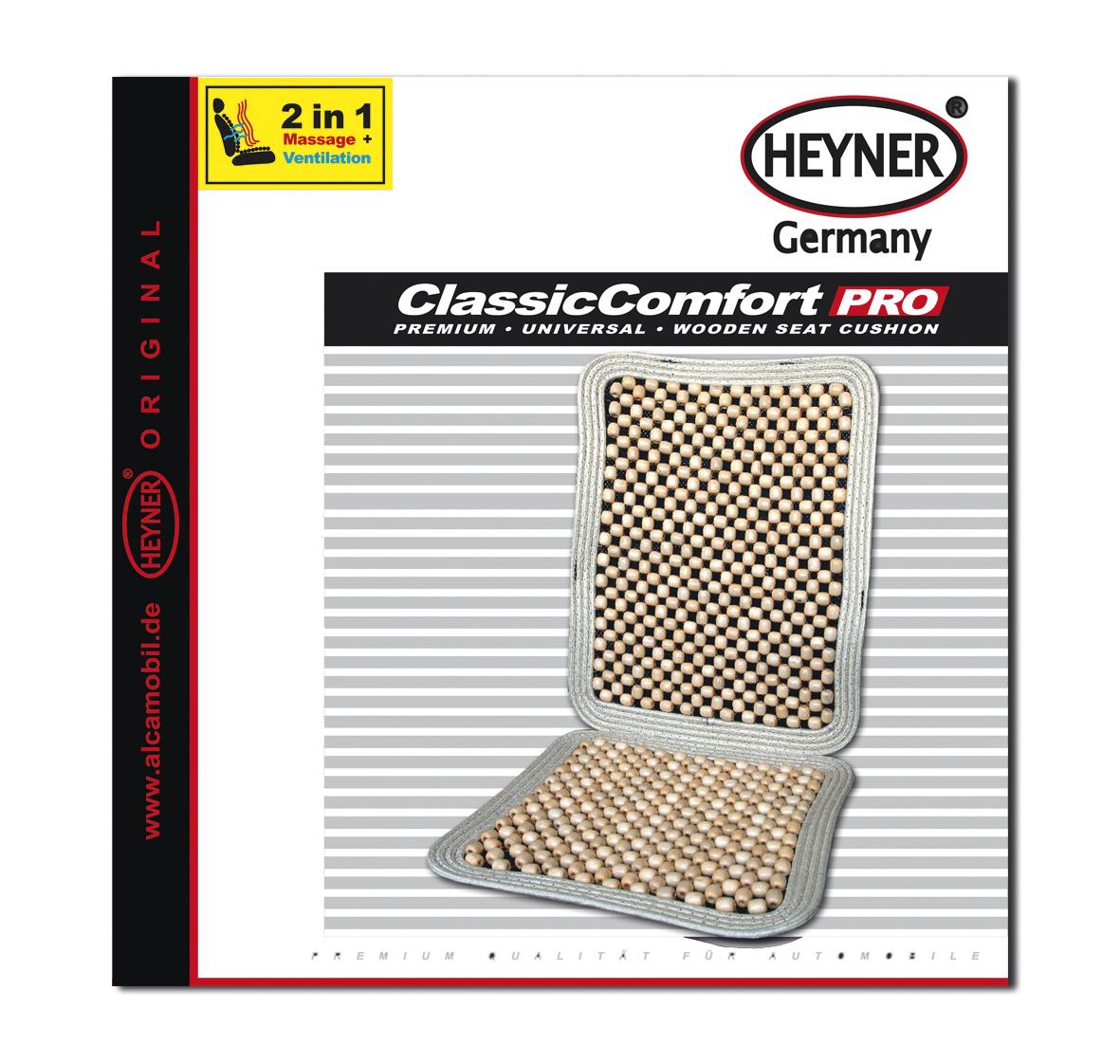 Накидка-массажер на сиденье Heyner, деревянные шарики, сиденье 38 х 38 см, спинка 50 х 38 см710000Накидка Heyner обеспечивает массаж и охлаждение для водителя и пассажиров посредством деревянных шариков. Быстро и просто устанавливается на все типы автомобильных сидений. Накидка крепится к сиденью с помощью эластичных резинок. Размер сиденья: 38 х 38 см.Размер спинки: 50 х 38 см.
