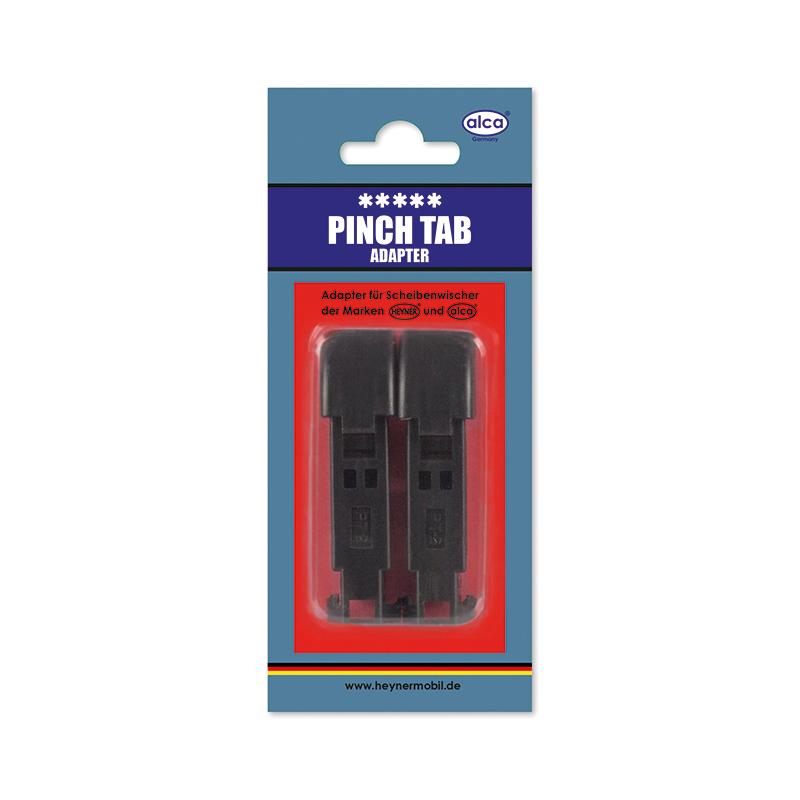 Адаптер для щеток Alca, с защелкой, 2 штW300320Адаптеры Alca применяются для установки щеток стеклоочистителя автомобиля на поводок типа Pinch Tab. Изделия выполнены из прочного пластика.В комплекте 2 адаптера.
