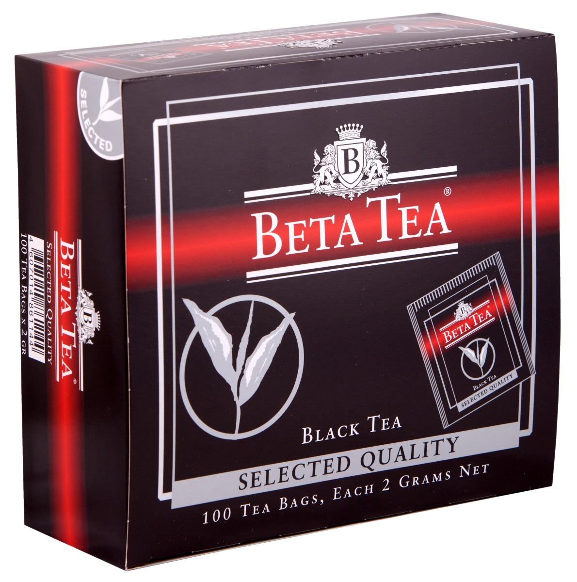 Beta Tea Отборное качество черный чай в пакетиках, 100 шт4607014861144Этот сорт чая поставляют лучшие чайные плантации Шри-Ланки. Любители крепкого чая с терпким вкусом по достоинству оценят Beta Tea Отборное качество.Всё о чае: сорта, факты, советы по выбору и употреблению. Статья OZON Гид