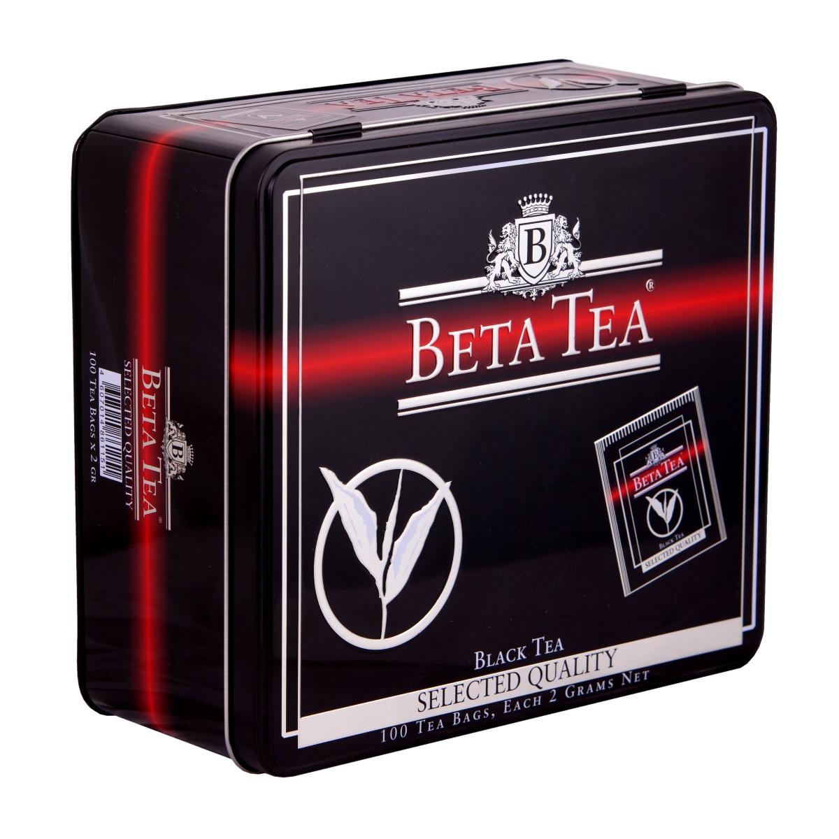 Beta Tea Отборное качество черный чай в пакетиках, 100 шт (подарочная упаковка) beta tea де люкс крупнолистовой чай 225 г подарочная упаковка